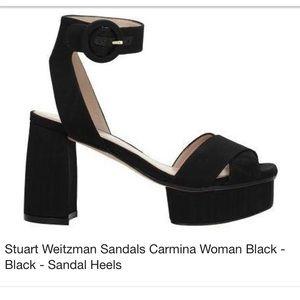 BN Stuart Weitzman Carmina Platform Sandals
